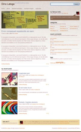 The very first screenshot for the Free Una WordPress Theme